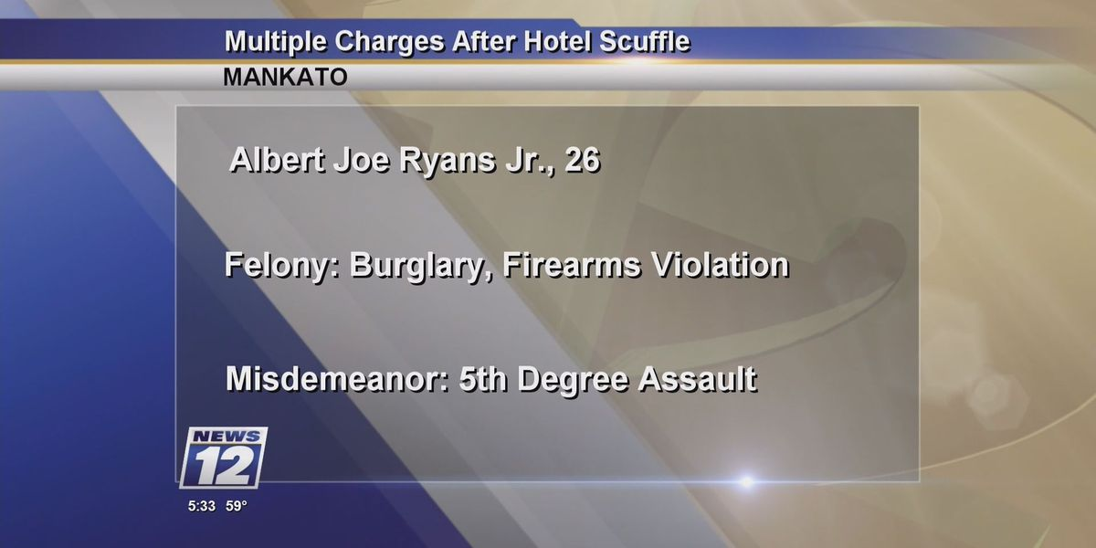 Multiples charges filed following hotel conflict in Mankato area