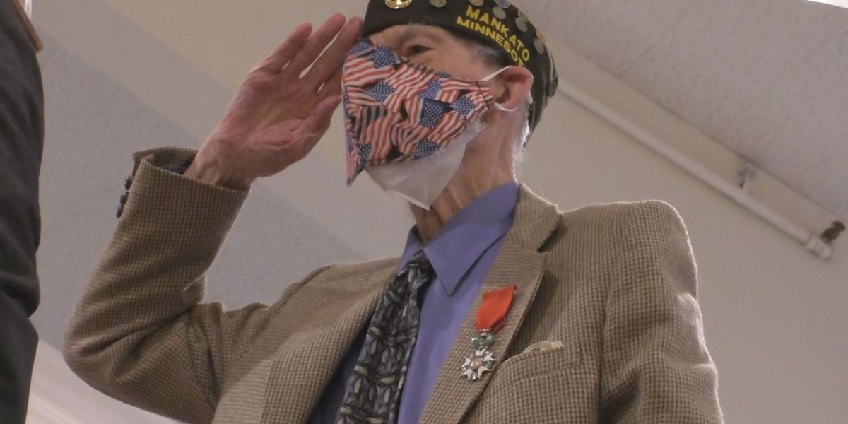 Local WWII veteran awarded with highest French honor