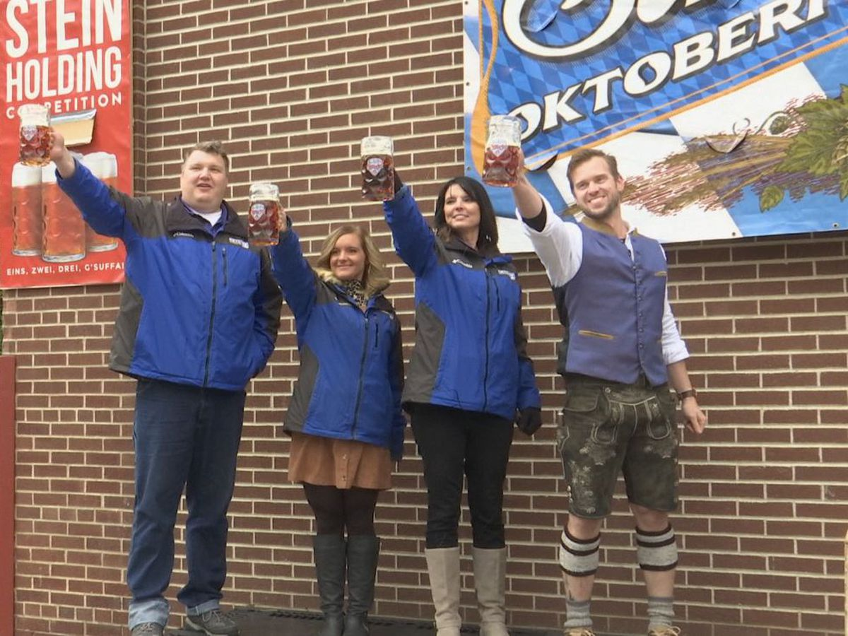 Schell's Brewery and KEYC News 12 This Morning celebrate Oktoberfest in New Ulm