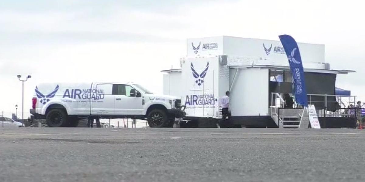 Air National Guard recruits at air show