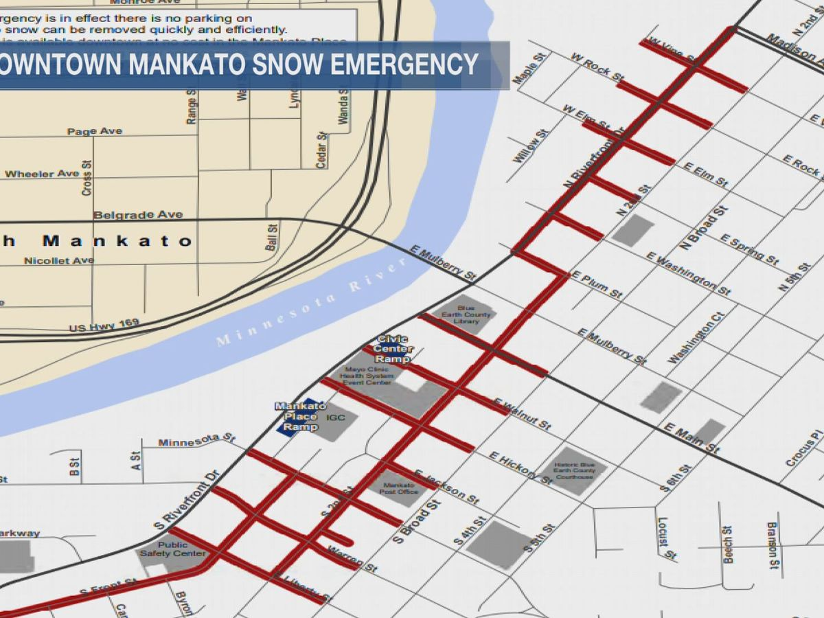 Snow emergency called for downtown Mankato core