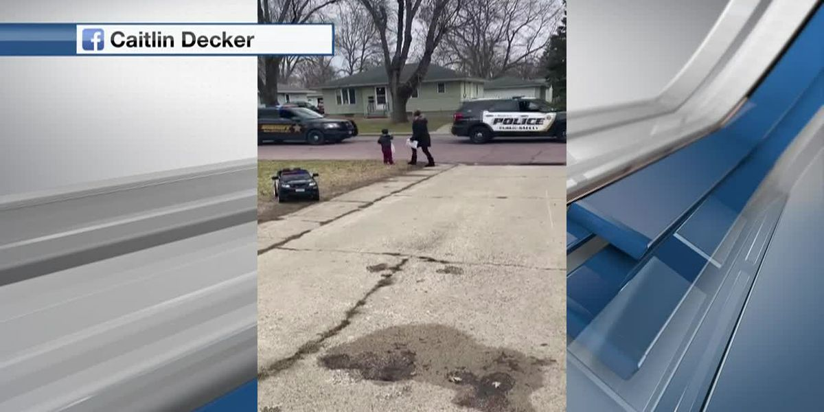 WATCH: Law enforcement surprises Mankato boy for his birthday