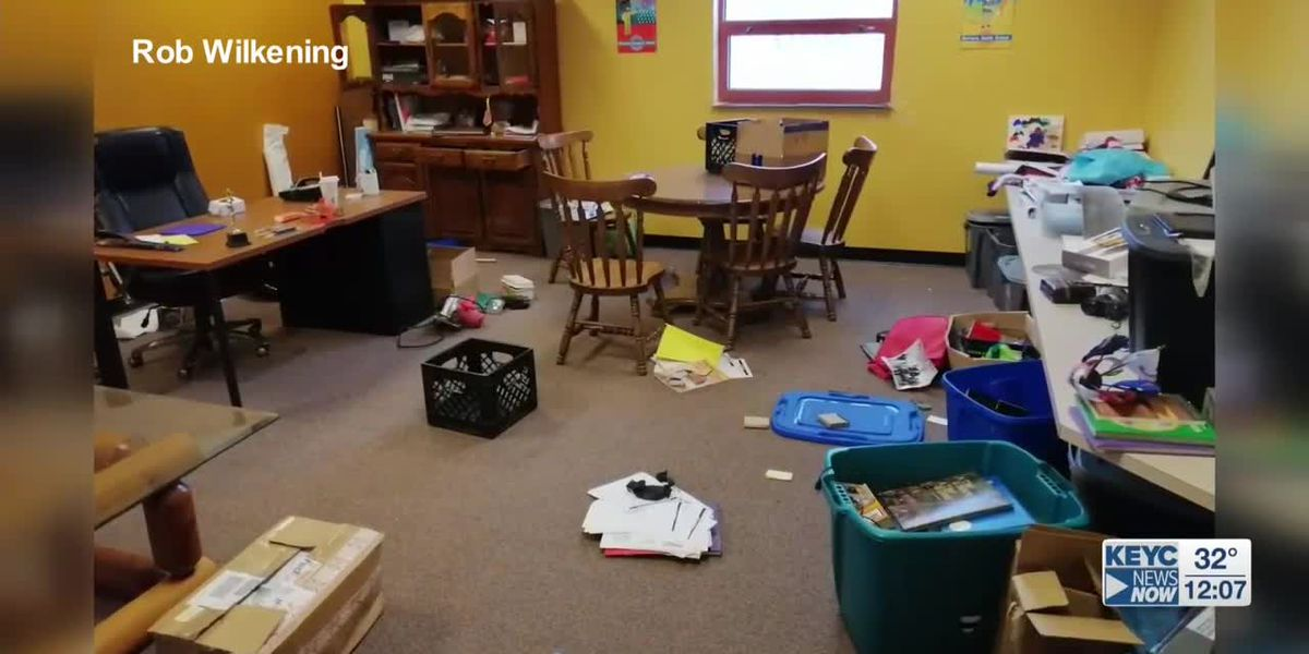 Vandalism at Waldorf school building