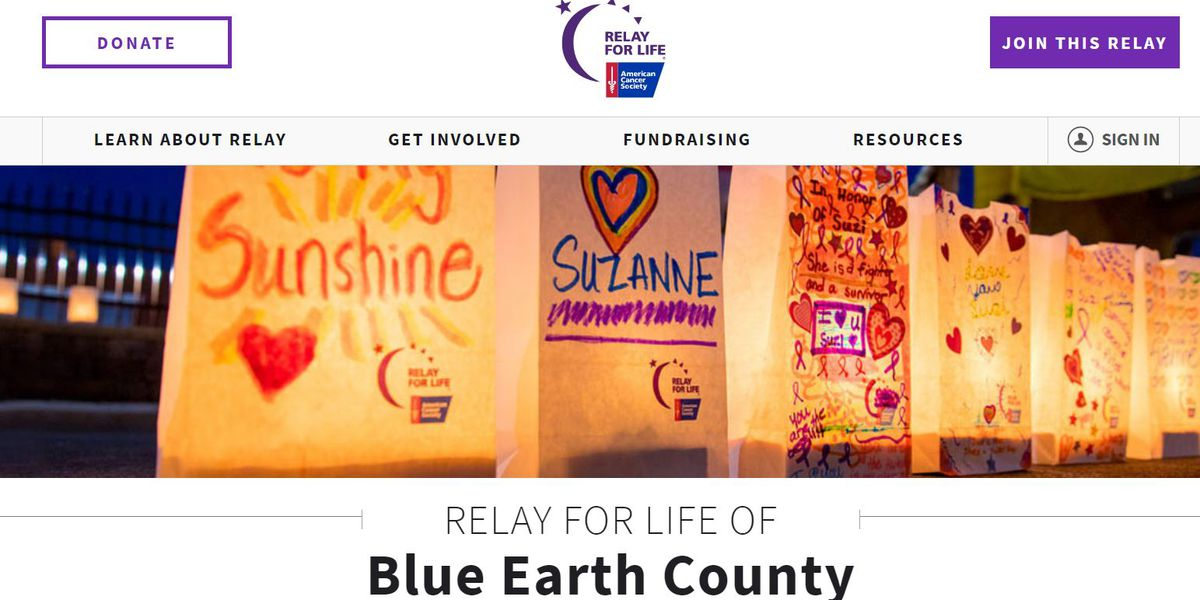 Blue Earth County Relay For Life to help lead the fight against cancer