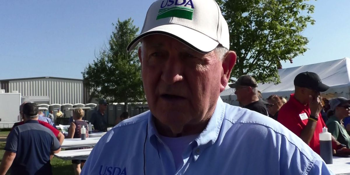 Sonny Perdue draws crowd at Farmfest amid growing trade tensions
