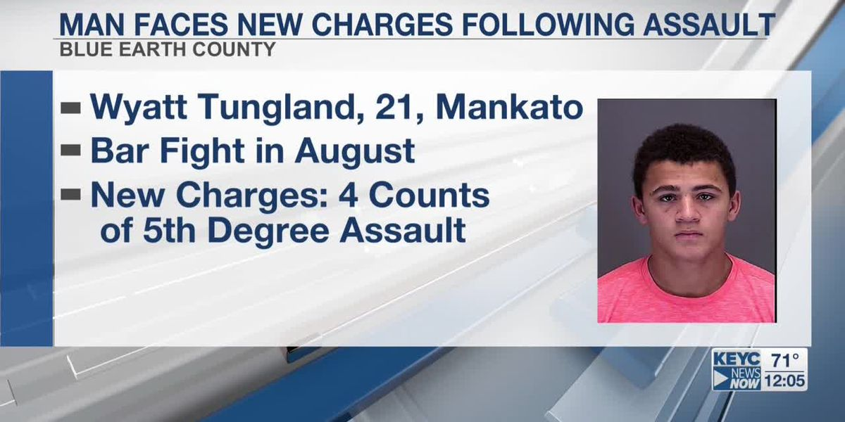 Former Blue Earth Area football player faces new charges following fight in downtown Mankato