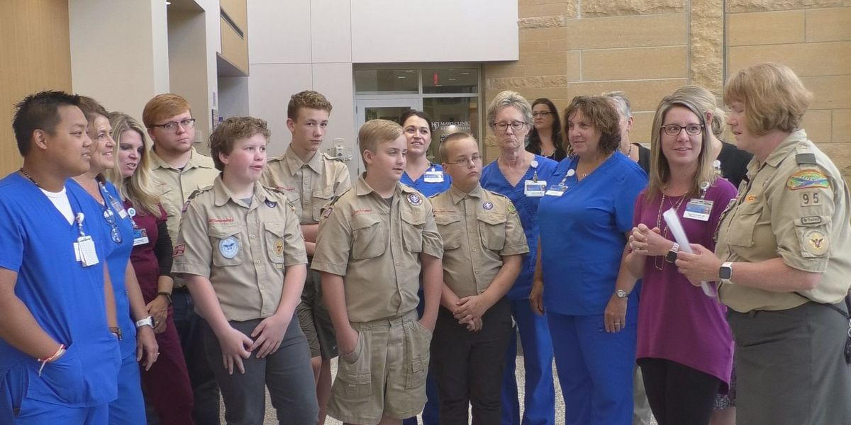 Troop 95 makes special delivery to Mankato hospitals
