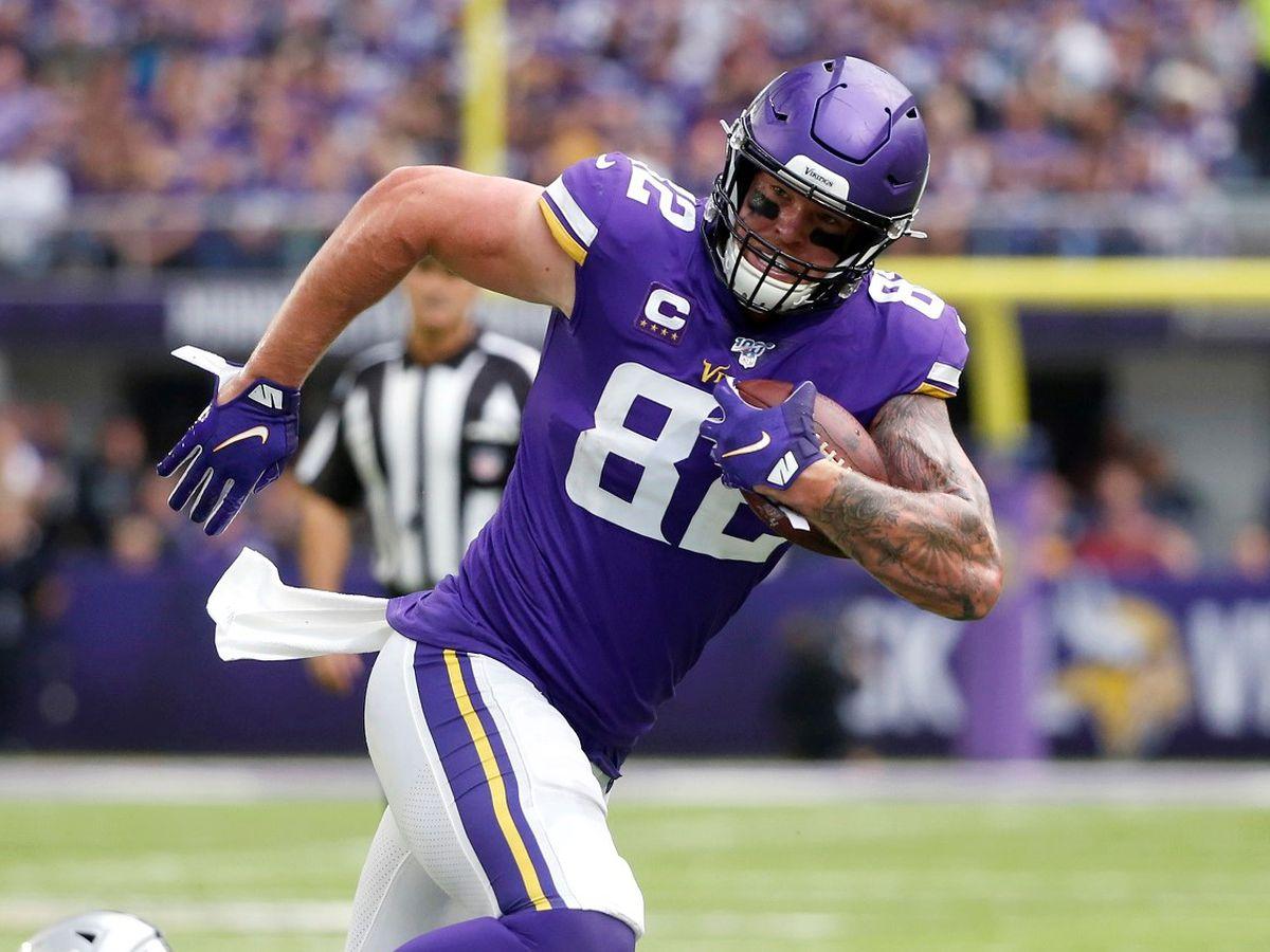 Vikings cut TE Kyle Rudolph after 10 years for cap savings