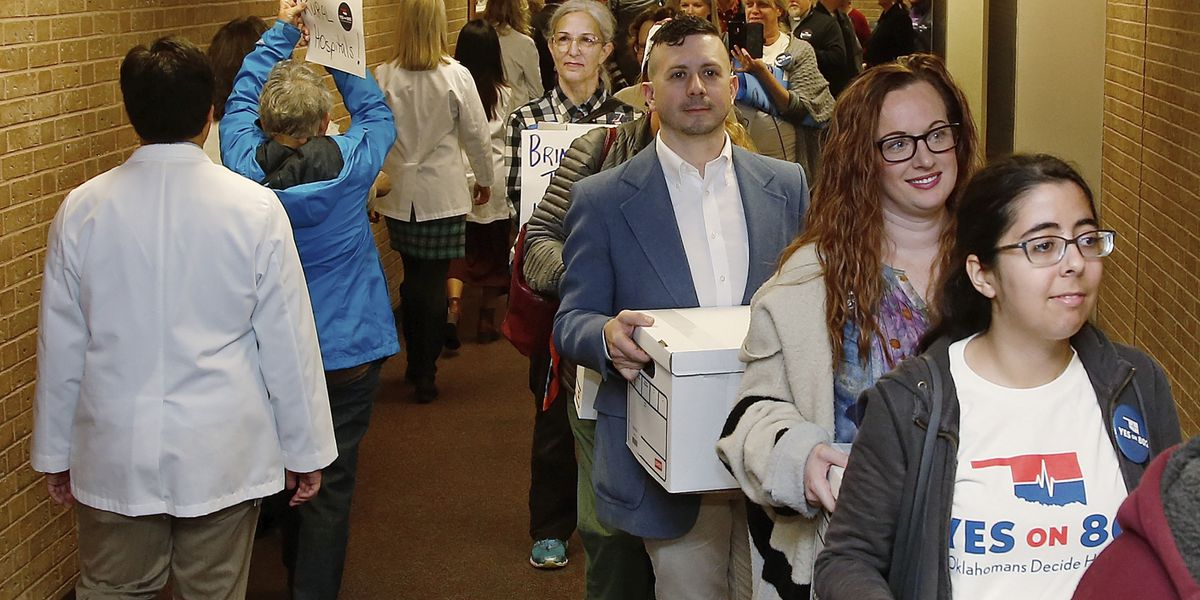 Oklahoma voters narrowly approve Medicaid expansion