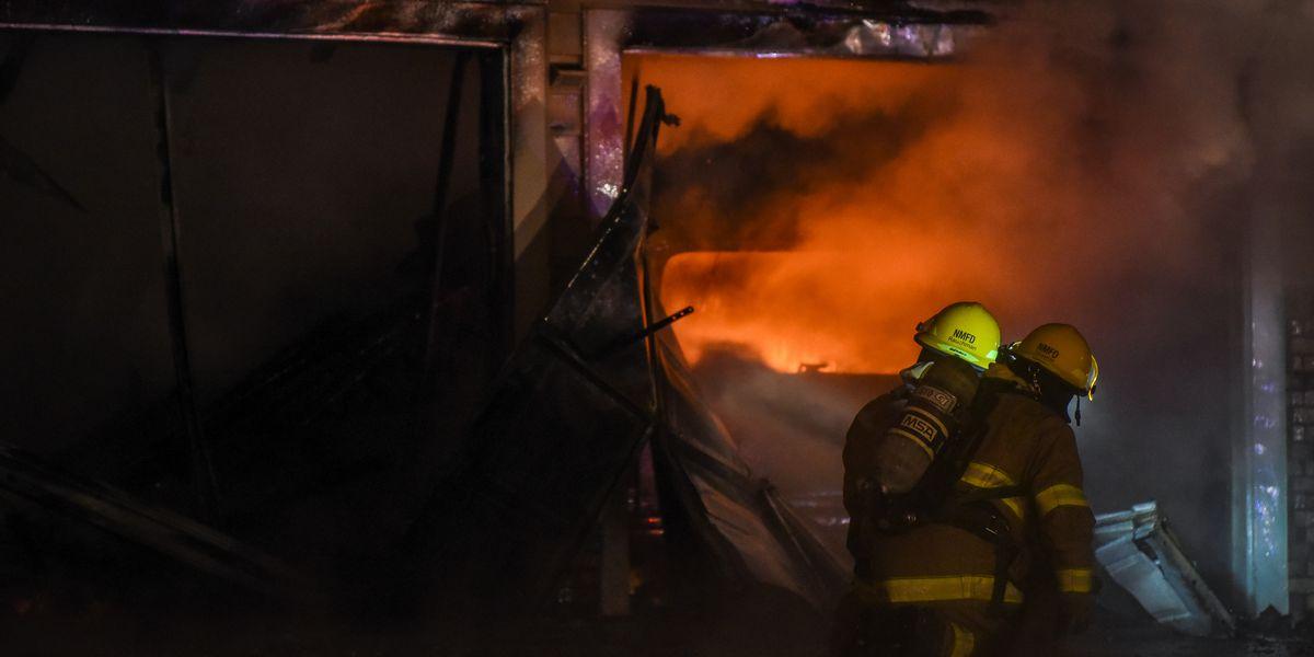 PHOTOS: House fire in North Mankato