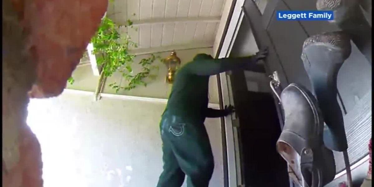 'Half the house was shaking': Surveillance video shows masked men kick in door of Calif. home