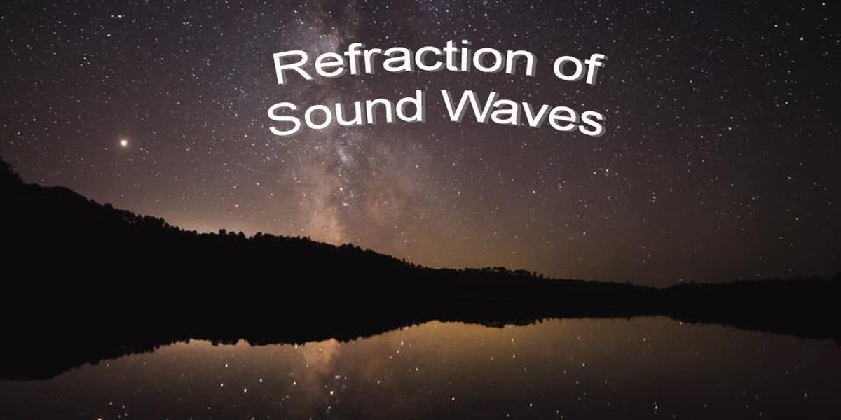Refraction of sound waves, why you can hear your neighbors across the lake better at night.
