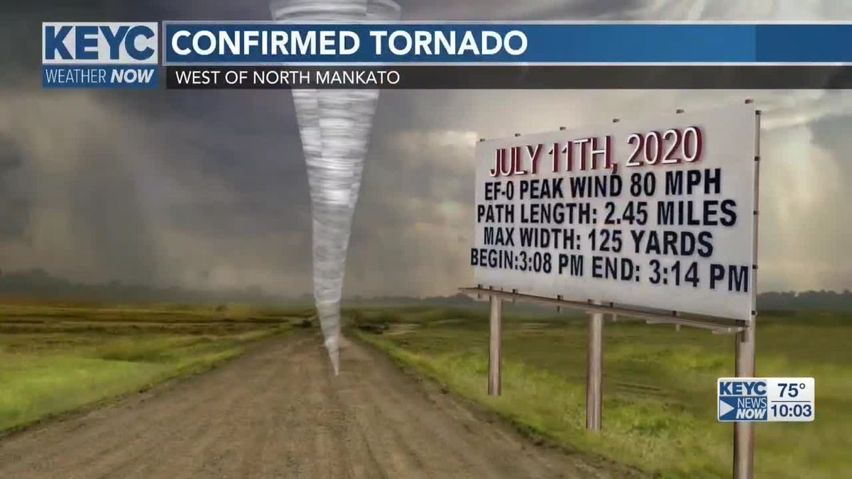 NWS confirms tornado West of North Mankato in weekend storm