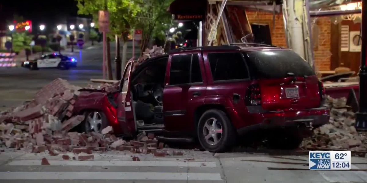 One person charged after driving into historic building