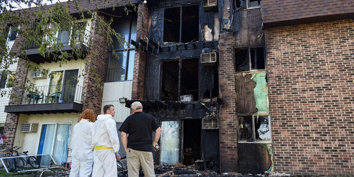 Fire damages apartment in St. Peter