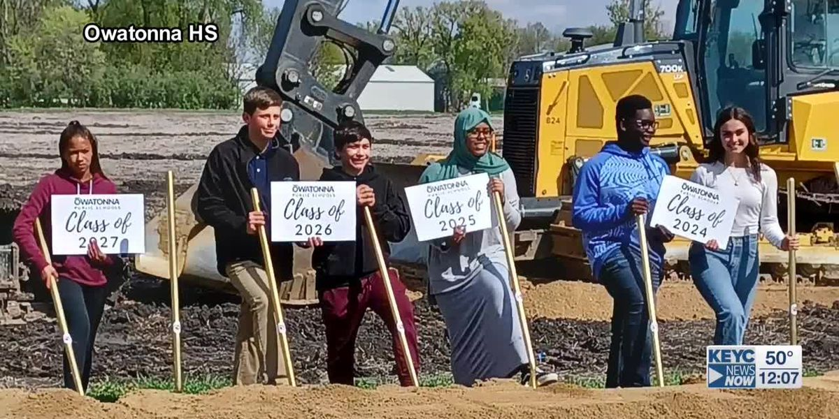Crews break ground on new Owatonna High School