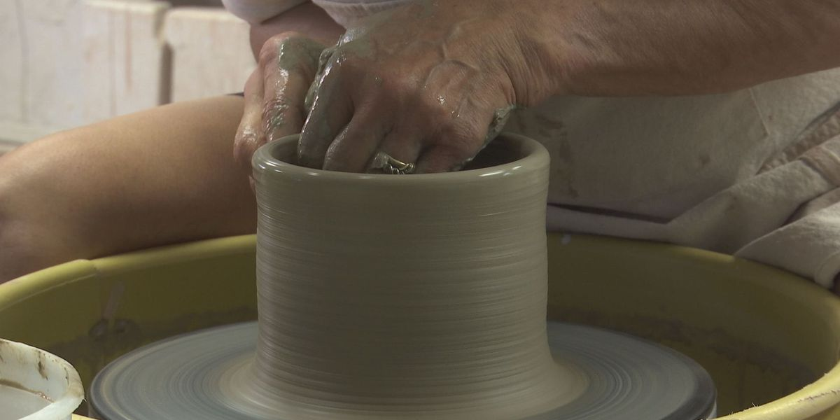 Artist creates nature inspired pottery