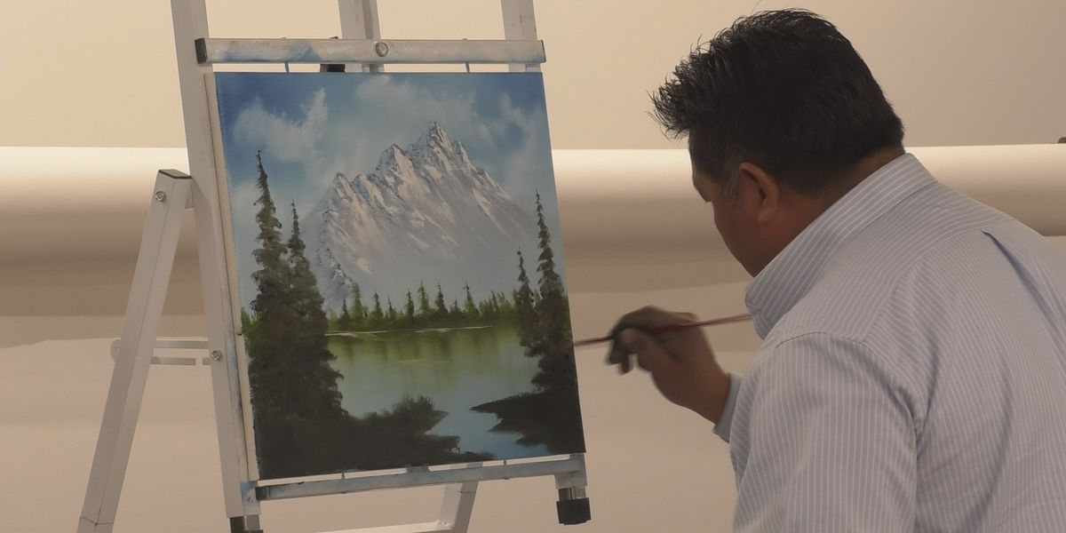 Community members learn how to paint their own landscape masterpieces