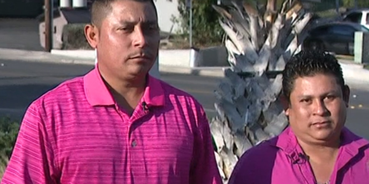 Two brothers helped a San Antonio police officer during a traffic stop