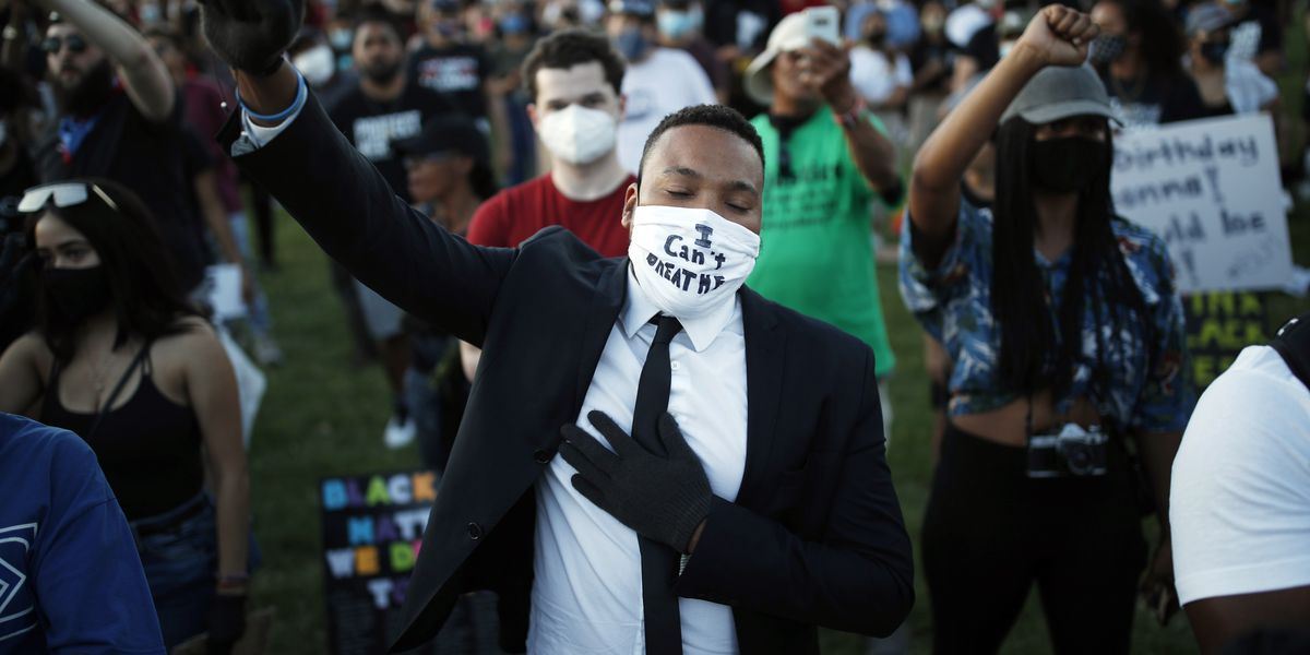 Mourners hold memorial for Floyd as protesters flood streets in huge, peaceful push for change