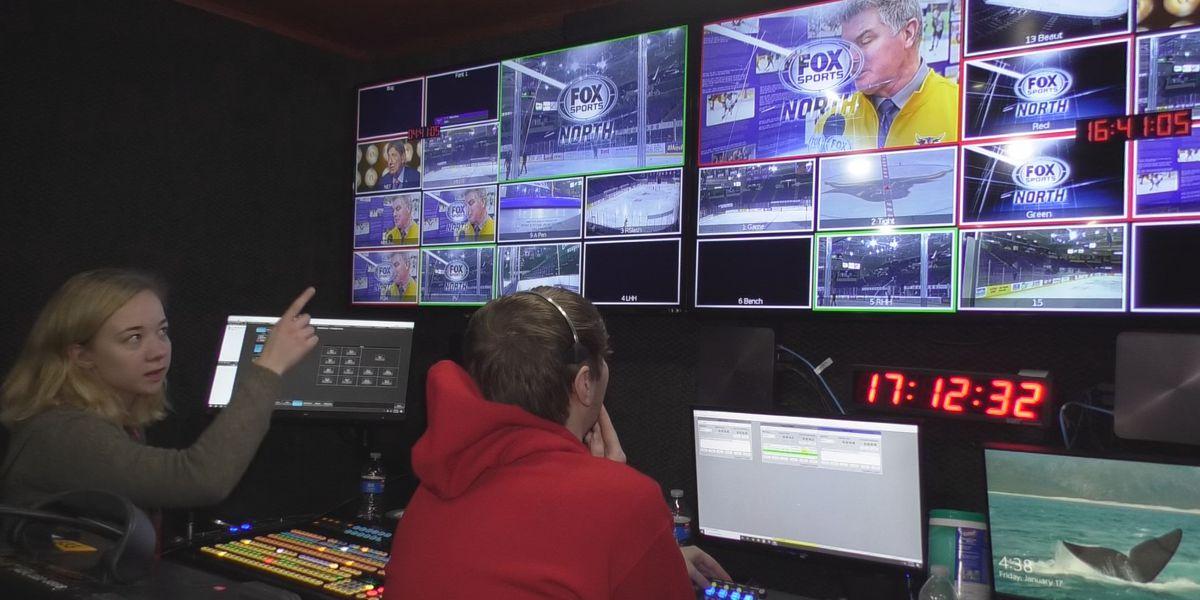 A look behind the cameras catching Maverick Hockey