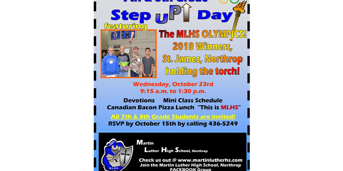 Martin Luther High School to host Step UP event