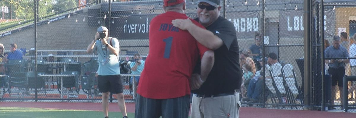 Local figures LEEP'd into action at the charity softball game