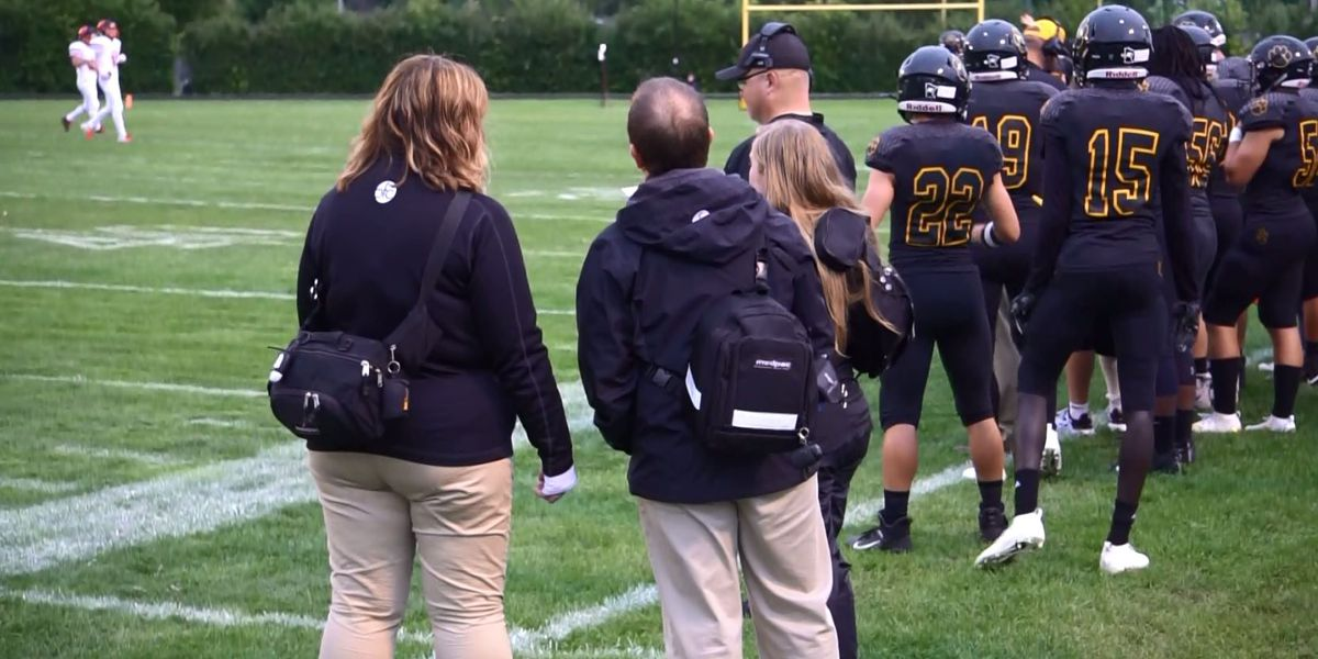 Mankato East football takes part in 'Safety in Football Campaign'