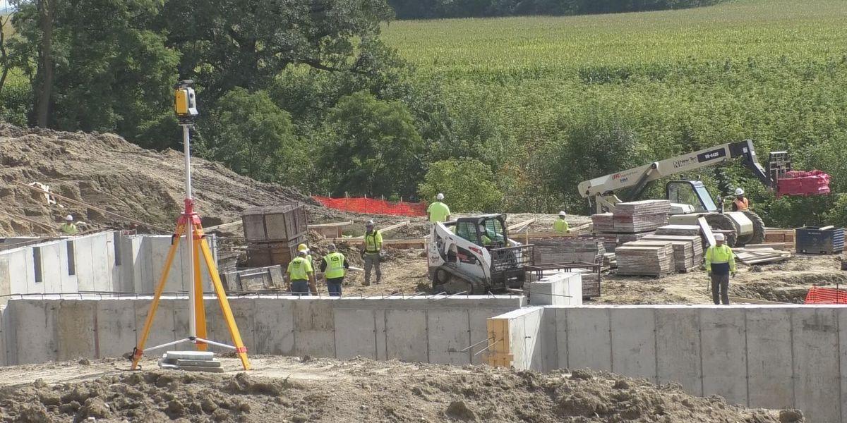 Cleveland School construction underway