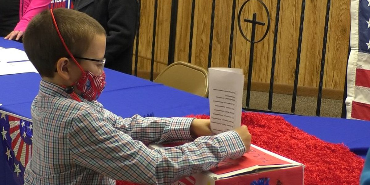 What's for lunch? Students learn about voting in mock election