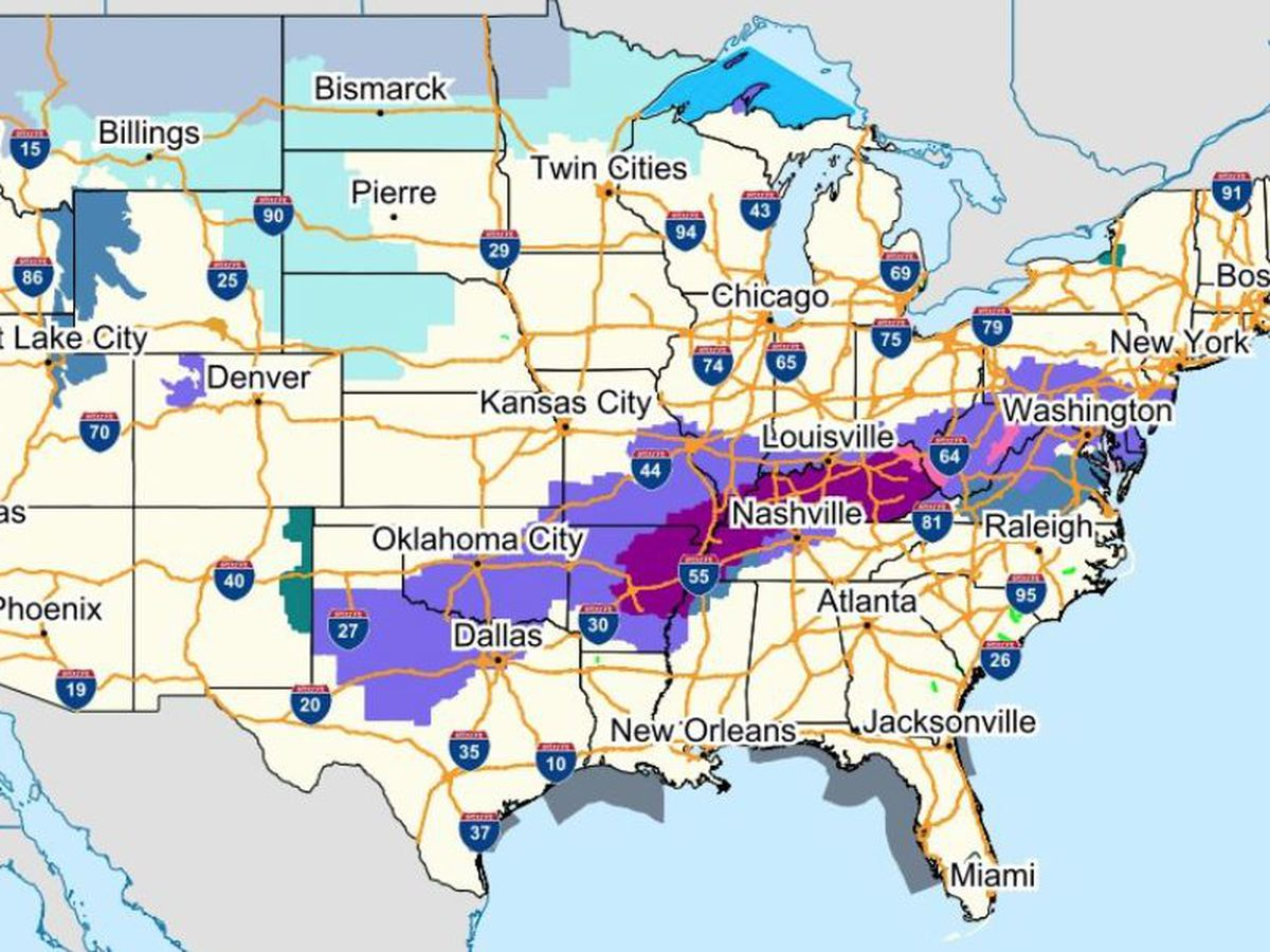 LOCAL NEWS LIVE: Ice storm, winter weather spread across US
