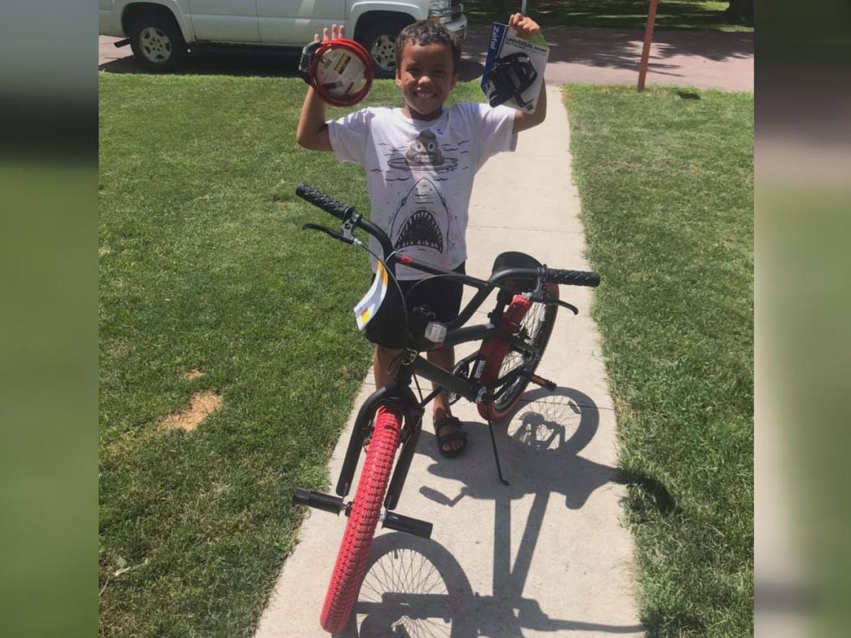 Neighborhood raises money for boy whose bike was stolen