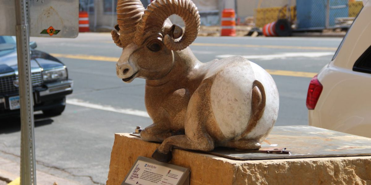 "Stolen ""Desert Big Horn"" statue located"
