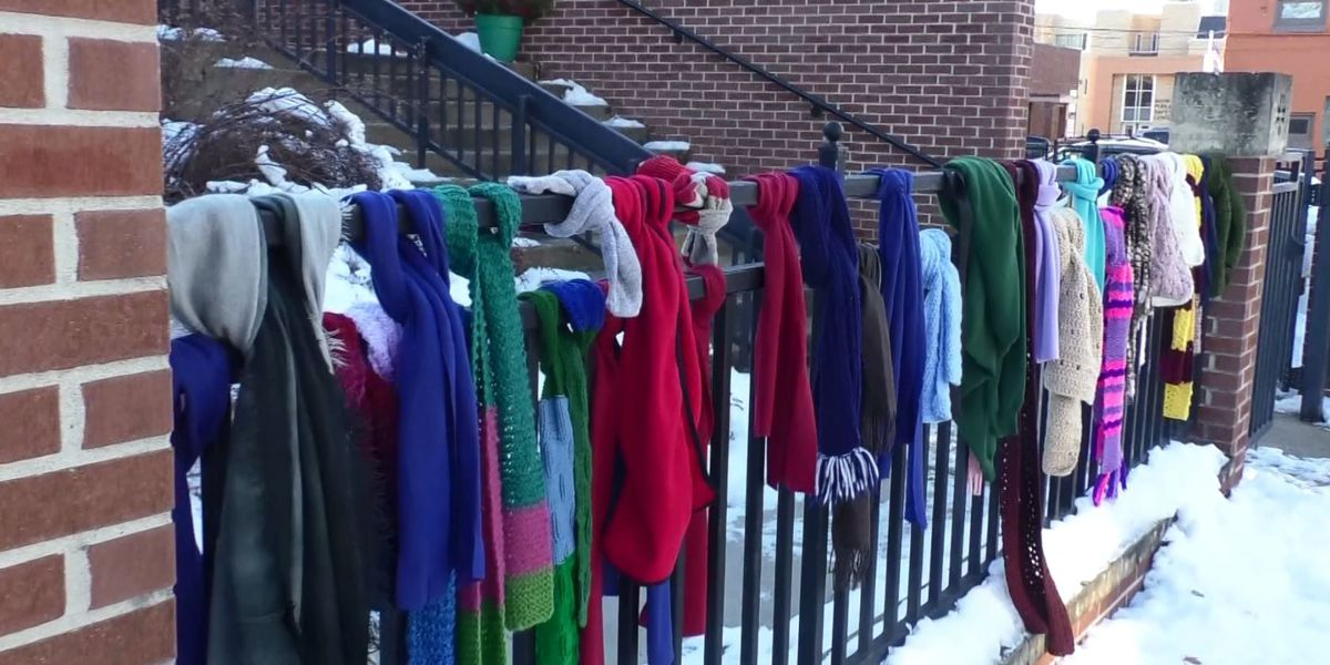 Local fence provides winter wear for those in need