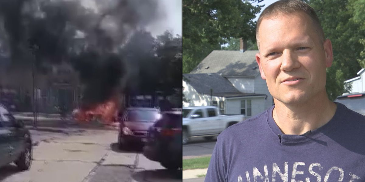 Good Samaritan recalls pulling driver from vehicle engulfed in flames