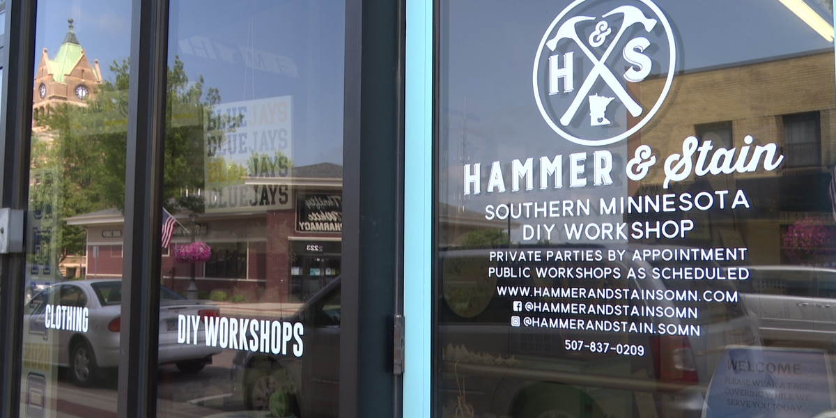 Local craft store hosted paint event
