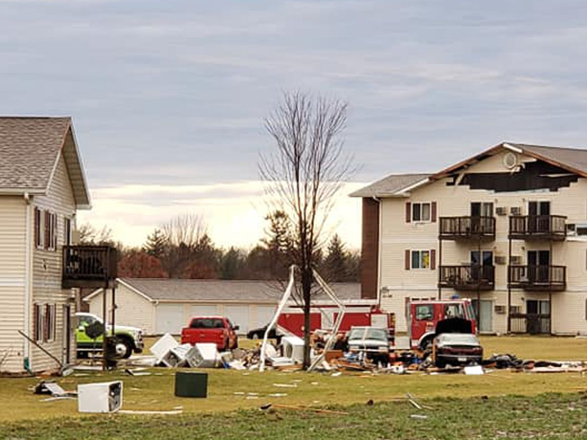Twister that damaged apartment building is rated EF1