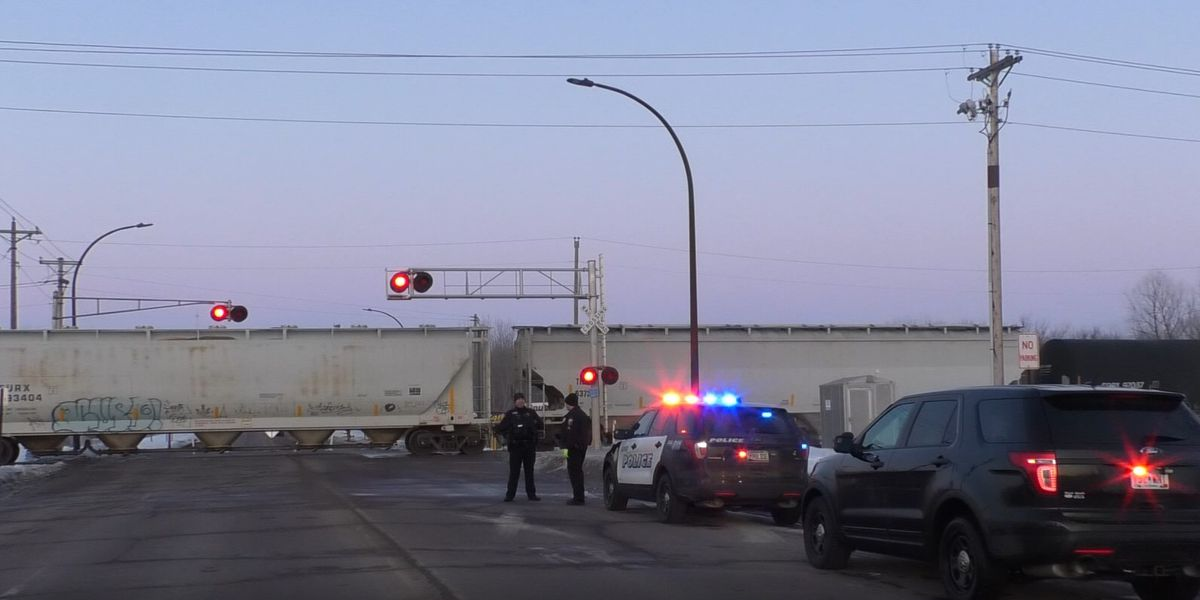 Woman hospitalized after crashing into train in New Ulm