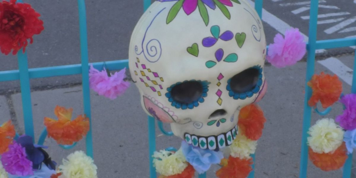 Day of the Dead themed Mandala Market in Old Town Mankato