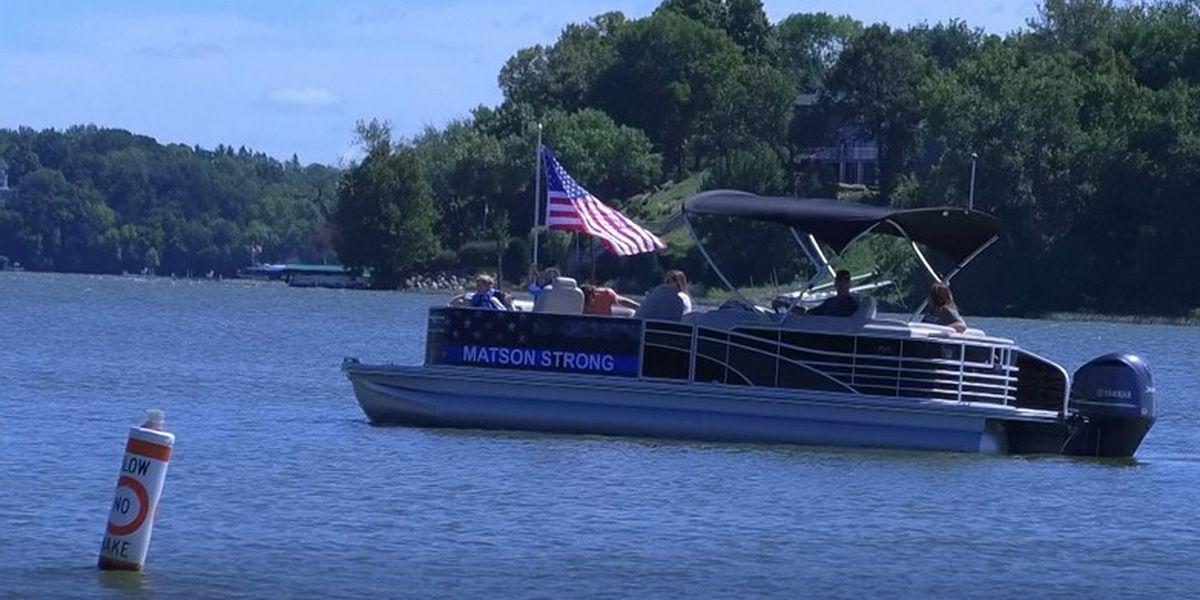 Boat parade fundraiser held for Officer Arik Matson