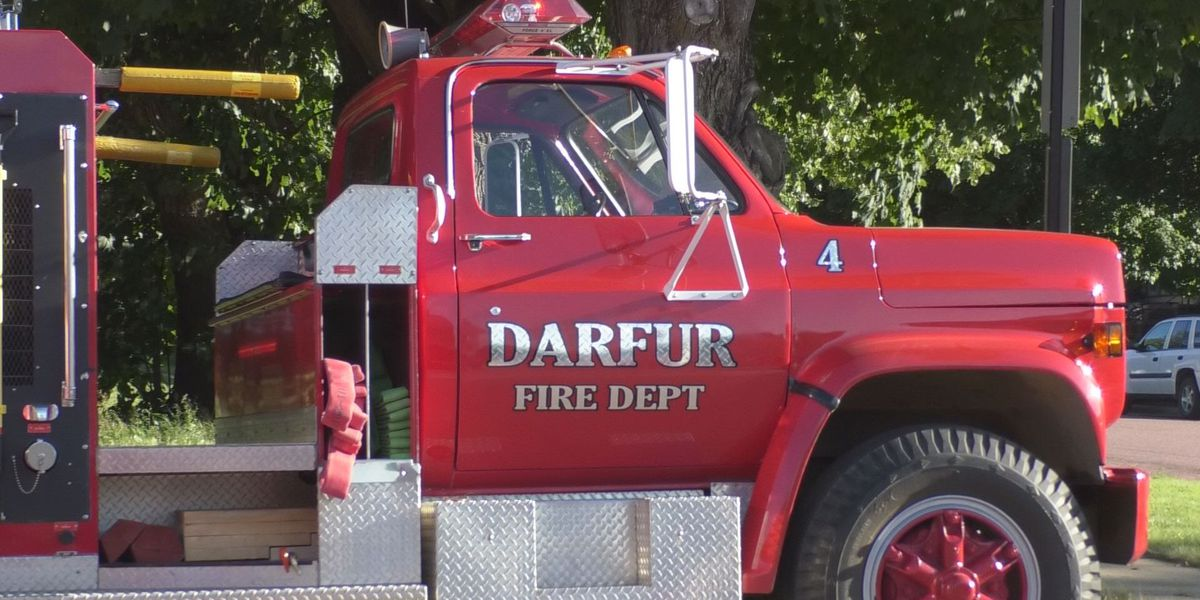 Darfur Fire Department gifted a grain rescue tube by Corteva Agriscience