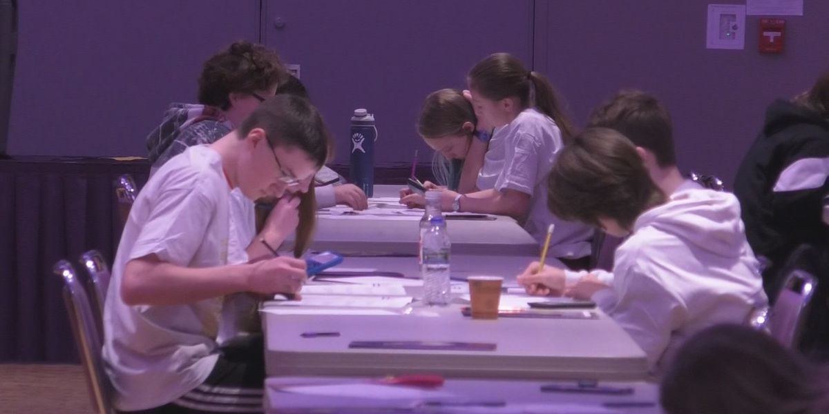 Hundreds of students compete in math competition