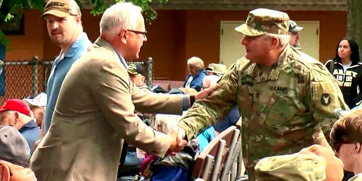Gov. Tim Walz celebrates Military Appreciation Day at State Fair