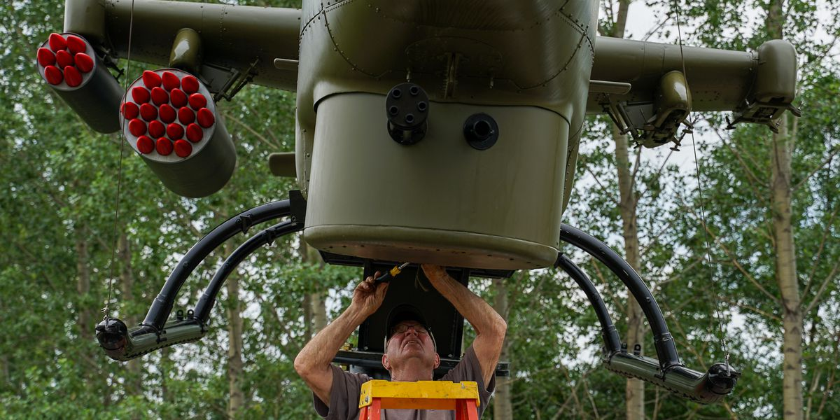 Cobra gunship installed at Martin County Veterans Memorial