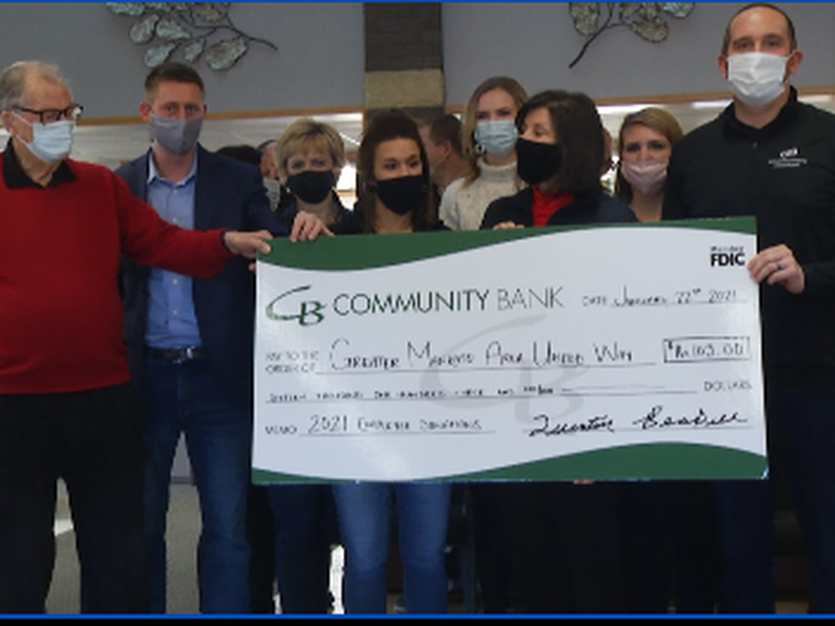 Community Bank Donates $16,000 to United Way