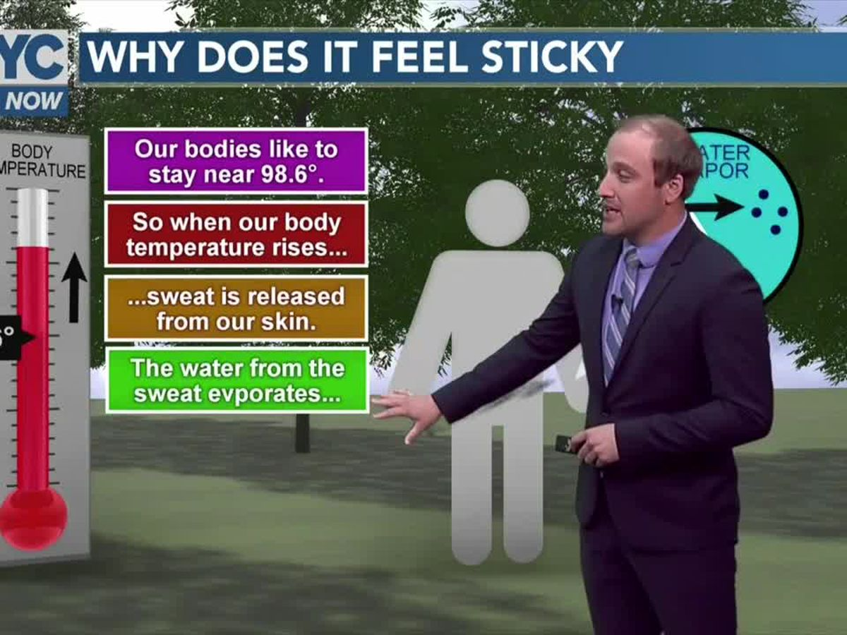 Why you feel 'sticky' when it's hot and humid