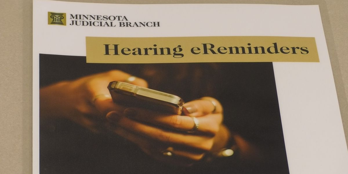 Blue Earth County offering electronic reminders for court hearings