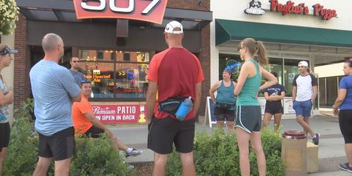 Runners enjoy Happy Hour every Wednesday