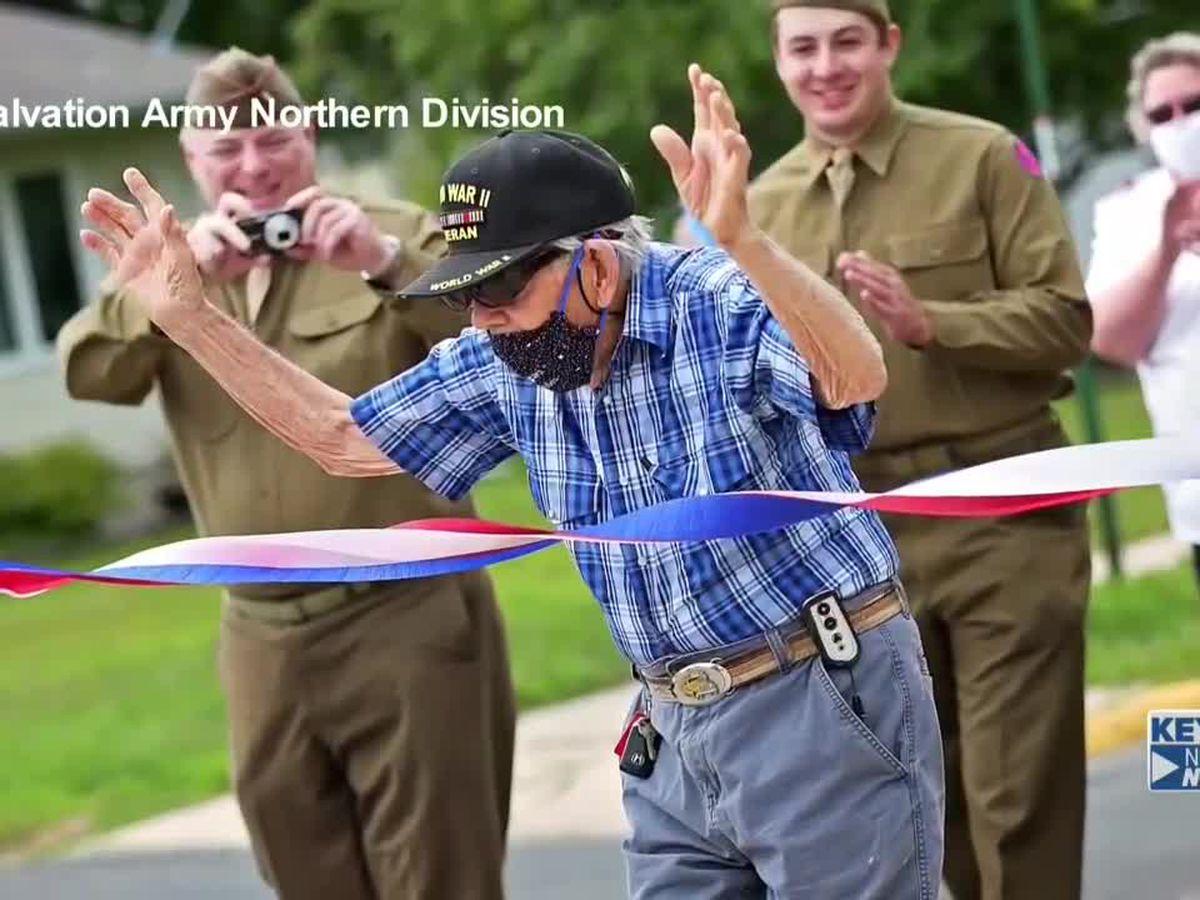 Veteran walks 100 miles for charity