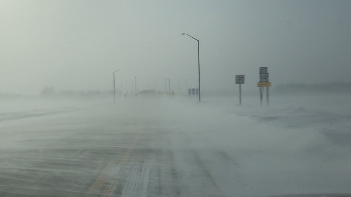 Blowing snow reduces visibility, causes school delays, cancellations